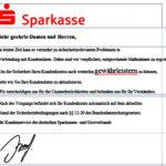 """Sparkasse-Fake-Mail mit """"r""""echtschreibfehler…"""